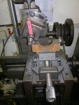 shaping machine (with new drive) cleaning up the mating faces of the eccentric halves.