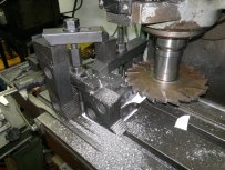the set up for milling clevis for HP and LP valve rods