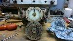 air pump stuffing block in situ