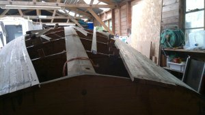 Planking almost done at the stern too