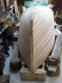 the planked hull-bow