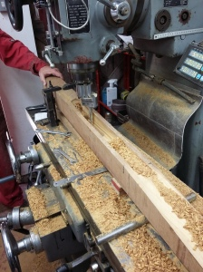 milling machine at work