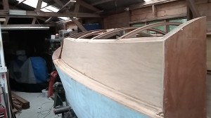 Cabin sides in place
