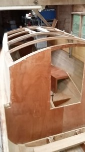 cabin roof beams in bunk end
