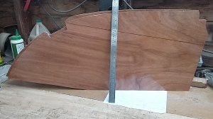 The port and starboard bunk headboards proving the hull is fairly symmetric !