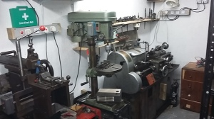 Workshop View -lathe and drill
