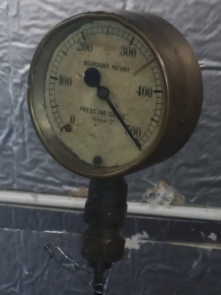 500psi on the clock