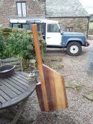 Rudder ready for fitting and varnish