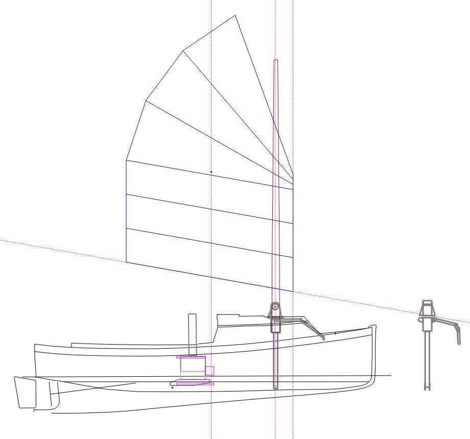 An 18.5sqM cambered 7-panel sail