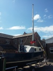 Mast up and rigged for the first time...